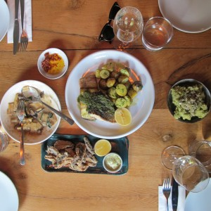 Lunch table at Cuma
